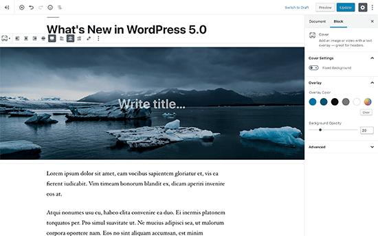 Introduzione a Gutenberg, il nuovo editor Block-Based